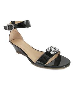 This Black Mitzi Ankle-Strap Sandal & Snap Set is perfect! #zulilyfinds