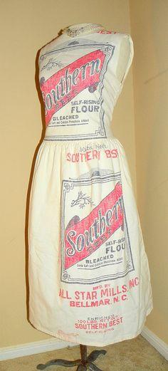 1950's Advertisement Dress - 'Southern Best Flour' Sack Print Wiggle Dress - WOW!!! $255