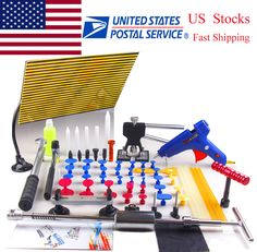 Full Set PDR (Paintless Dent Repair) Kit Dent lifter Puller Line Board Paintless Ding Repair Tap down, Limited quantity remaining