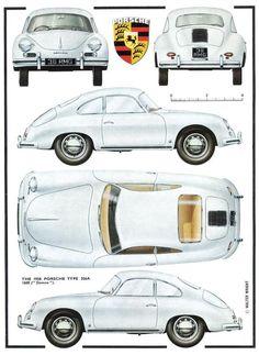 1958 Porsche 356 A - Ferdinand Porsche Porsche 356 Outlaw, Porsche 911 Classic, Porsche 356 Speedster, Porsche 356a, Ferdinand Porsche, Porsche Models, Porsche Cars, Volkswagen Bus, Vw Camper