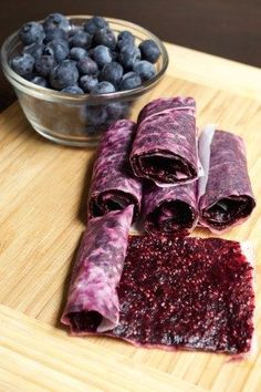 Blueberry Chia Seed Fruit Leather