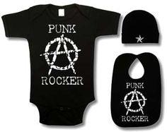 Punk Rock Baby 3 Piece Gift Set: Anarchy Punk Rocker