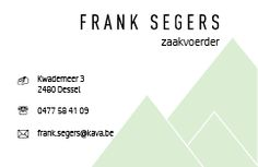 Digitaal ontwerp visitekaartje - achterkant