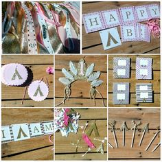 Pink & Gold Arrow Teepee Birthday Party Package by PartyGypsy