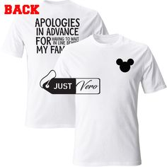 4024ac62 Apologies In Advance For Having To Wait In Line Behind My Family T shirt  size XS – 5XL
