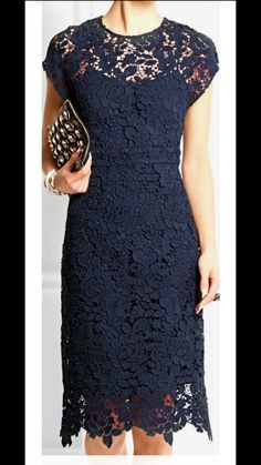 blue lace dress closet ideas women fashion outfit clothing style apparel J. Trendy Dresses, Elegant Dresses, Cute Dresses, Short Dresses, Formal Dresses, I Dress, Dress Outfits, Party Dress, Fashion Dresses