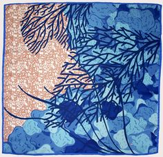 Cleo Ferin Mercury - Blue Coral, square scarf http://www.cleoferinmercury.co.uk/