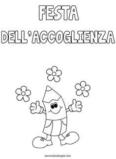 Primo giorno di scuola - Festa dell'accoglienza Paper Quilling, Primary School, School Projects, Montessori, Coloring Pages, Preschool, Snoopy, 1, Classroom