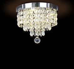 64.07$  Buy now - http://ali2kc.worldwells.pw/go.php?t=32438298561 - Hot Ceiling Lamp LED Crystal Ceiling Light Diameter 20cm/30cm Optional AC90-260V Foyer/Dining room/Aisle Ceiling Lamp 64.07$