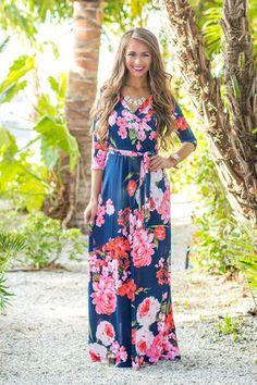 Women Summer Floral Print Maxi Dress Boho Style Long Beach Dress Evening Party Long Bandage Bodycon Dress Plus Size Vestidos - Navy Blue 1 XXL Boho Style Dresses, Stylish Dresses, Elegant Dresses, Boho Dress, Sexy Dresses, Ladies Dresses, Chic Dress, Bride Dresses, Bohemian Mode