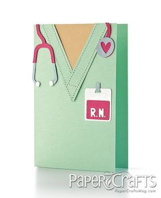 Card for nurse friends   as seen in Paper Crafts magazine