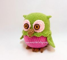 Owl mini storage box PDF crochet pattern by Nowacrochet on Etsy Crochet Birds, Crochet Amigurumi Free Patterns, Crochet For Kids, Free Crochet, Plastic Bag Crochet, Box Patterns, Stuffed Toys Patterns, Knitting Yarn, Mini