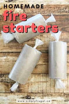 Get your outdoor fun underway with these easy homemade fire starters using items you have on hand! Perfect for the backyard bonfire or the weekend campfire! Camping Gifts, Camping Stuff, Camping Ideas, Camping 101, Camping Recipes, Camping Outdoors, Camping Essentials, Cool Kitchen Gadgets, Cool Kitchens