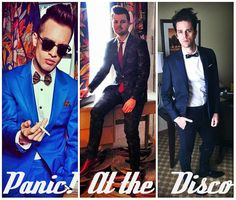 Panic! At The Disco Brendon Urie, Spencer Smith, and Dallon Weekes