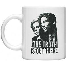 X Files Mug, X-Files, Mulder & Skully Mug, GPO Group Exclsuive Design X Files Mulder And Skully Mug, Microwave Dishwasher Safe 11oz Mug Cup