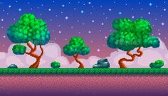 Pixel Art Seamless Background - Backgrounds Game Assets