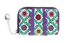 Vera Bradley Frill Collection Key, Card & Coin in Viva La Vera Vera Bradley. $12.99