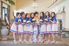 This wedding is smart with a twist. This bride definitely wants to keep her culture. Why not, Hmong outfits are so beautiful.