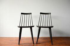 Vintage Yngve Ekstrom Sibbo Chairs