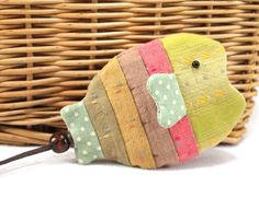 Colored Fish Key Bag Easy Sewing Project Kits Craft by TheSewShow