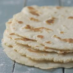 """Tortillas are so simple, yet so perfect. I really wanted an easy, fat-free,  gluten-free tortilla recipe without an array of ingredients like tapioca  starch or guar gum or xanthan gum. After a bit of experimentation, I've  come up with one that I love. These tortillas use brown rice flour instead  of wheat flour, and potato starch as the """"glue"""". Since there is no gluten,  something has to hold it all together.  Potato flour, not potato starch: There is a difference. Potato flour is  made ..."""