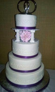 4 Tier Round Wedding Cake. D & D Cake Designs. Jacksonville, Florida