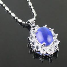 Diamant bleu profond de la mode collier pendentif