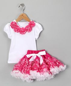 Take a look at this Hot Pink Top & Pettiskirt - Infant & Toddler by Royal Gem Clothing on #zulily today!