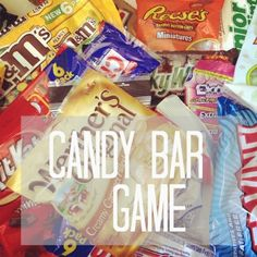 candy bar game & other activities for kids