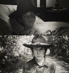 Carl grimes the walking dead growing up