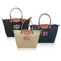 Tote your must haves in this effortlesly stylish and roomy personalized nylon tote that goes seamlessly from workday to weekend. Customize it with a monogram, name or word to make it all your own.