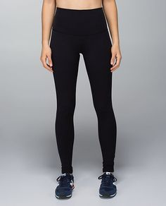 "Lululemon Wunder Under Pant*Roll Down, designed for: yoga, gym, to-and-from, fabric(s): Full-On Luon®, LYCRA®, fit: tight, rise: high or low - you decide!, inseam: 30.5"", black"