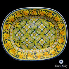 Made in Italy - Oval Leaf Platter - Ceramics