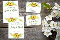 Wedding suite INSTANT DOWNLOAD   Editable Templates   Sunflower Wedding Invite, rsvp, save the date, invite   Sunflower Collection   PDF Printable Invitations, Printables, Sunflower Wedding Invitations, Wedding Suite, Amazing Grace, Save The Date, Thank You Cards, Rsvp, Invite
