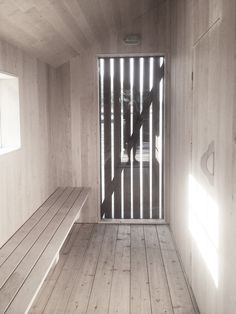 Bastu – Lowen Widman Arkitekter Bunker, Radiators, Interior Architecture, Concrete, Home Appliances, Cabin, Curtains, Doors, Sauna Ideas