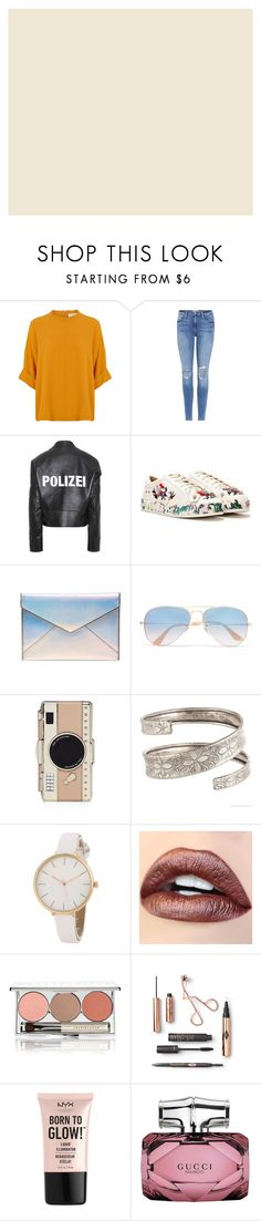 """Daily Quick look"" by sara127sara on Polyvore featuring Frame, Vetements, Nasty Gal, Rebecca Minkoff, Ray-Ban, Kate Spade, Chantecaille, NYX, Gucci and love"
