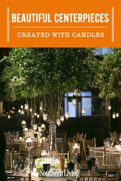Beautiful Centerpieces Created With Candles   Whether you're decorating a table for a dinner party, a wedding, a holiday gathering, or no special occasion at all, you'll want to include candles after you see these beautiful candle centerpiece ideas. #entertainingideas #southernliving