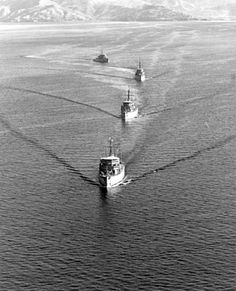Four US Navy minesweepers (the USS Fortify, USS Impervious, USS Engage, and USS Force) leave the Republic of the Philippines for Haiphong in North Vietnam to begin Operation End Sweep. The operation's objective was to clear the coastal area of mines released by the USN during Operation Rolling Thunder. (1973)