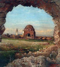 Village Bulgarians. 1872. Savrasov, Alexey Kondratievich (1830 - 1897) • download painting • Gallerix.ru