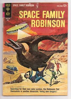 Space Family Robinson 8 VgFn Rare Gold Key Comics Book June 1964 Silver Age From Retro TV Series on Etsy, $15.00