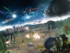Star Wars Darth Vader Death Star rebels Snow Speeder AT-AT X-Wing Tie fighters rancor empire at war  / 1600x1200 Wallpaper
