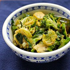 Brussels And Broccoli With Maple Mustard Vinaigrette