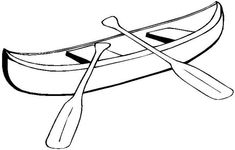 Canoe Coloring Book Page: Free Canoe Template or Coloring Page
