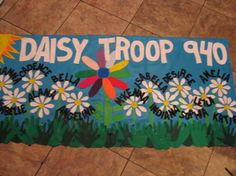 Girl Scouts/Boy Scouts/Campfire Troop banners- personalized