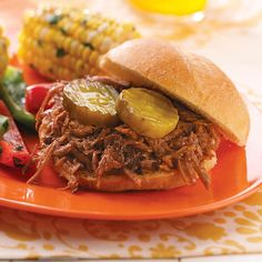 Shredded Barbecue Beef Sandwiches Recipe -I like to serve these mouthwatering sandwiches with a side of coleslaw. The homemade barbeque sauce is exceptional