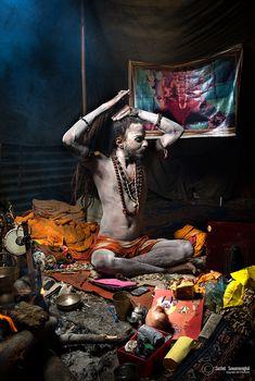 Maha Kumbh Mela 2013 by Suchet Suwanmongkol on Om Namah Shivaya, Hindus, People Of The World, In This World, Sadhus India, Travel Photographie, Kumbh Mela, Mother India, Indian Colours