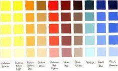 """Képtalálat a következőre: """"ochre color chart"""""""