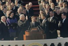 JFK takes the oath of office, January 1961