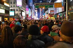 In the U.S., over 1 million people flock to Times Square each year to stand in the freezing cold for eight hours just to watch a ball slowly descend. Love that last one.