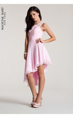 Nika Prom 8035 light pink rose dress #prom